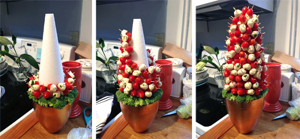 Caprese christmas tree by wear wag repeat lucky community - Christmas tree shaped appetizers ...