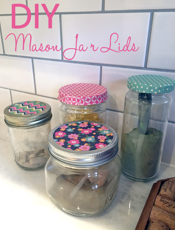 DIY Coordinating Mason Jar Lids
