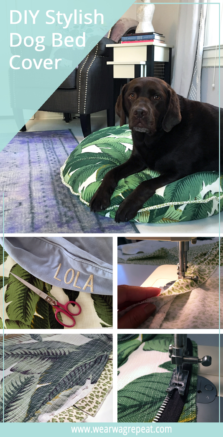 how to make a stylish dog bed cover ⋆ wear wag repeat - most zippers come with instructions on the package of how to sew them intoyour piece