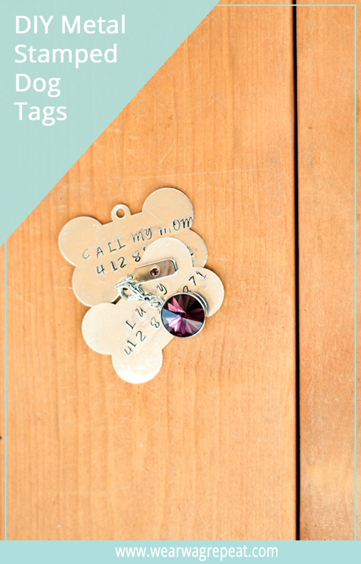 DIY METAL STAMPED DOG TAG
