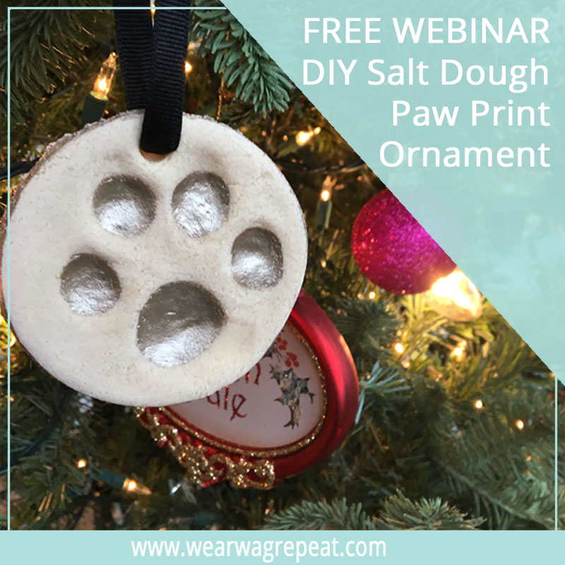 Salt Dough Paw Print Ornament