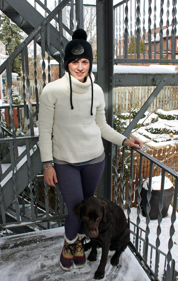 Snowy layers jcrew bracelet sorel boots chocolat lab