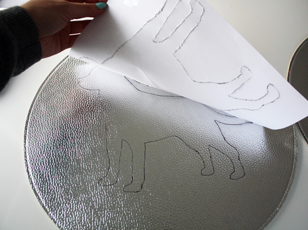 DIY Dog silhouette art