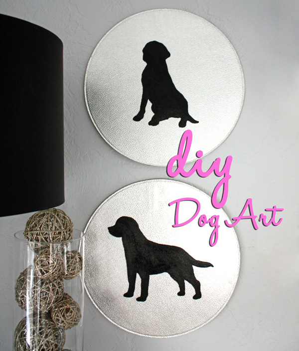 DIY Dog silhouette art craft