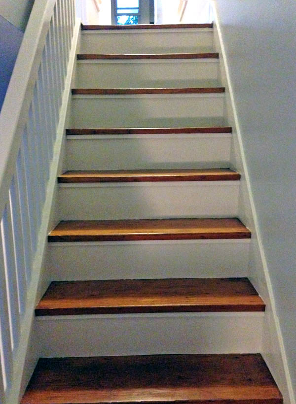 Painted Risers Wood Stairs