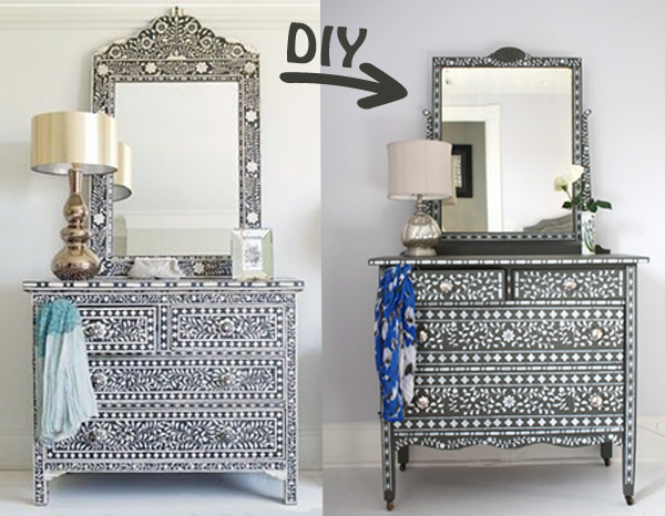 Diy Inlaid Bone Dresser