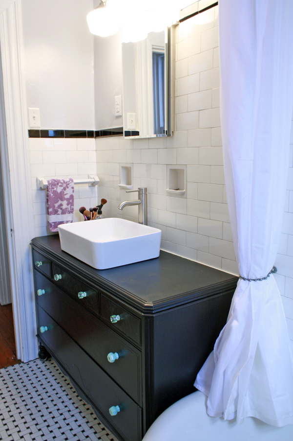 Vanity11 - Turn A Vintage Dresser Into A Bathroom Vanity