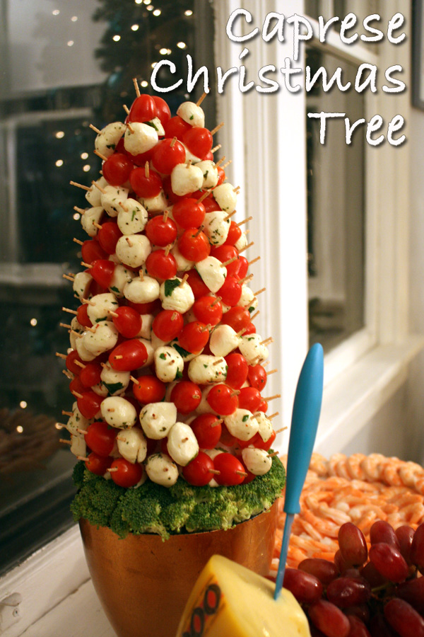 Caprese Christmas Tree Party Appetizer