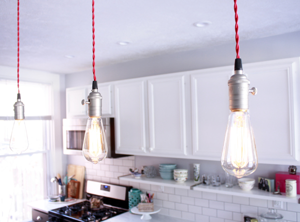 Etsy Pendant Lights Fabric Wrapped Cord