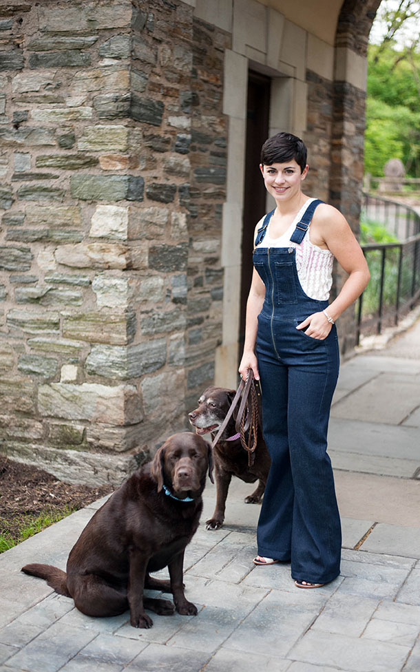Casual Gingham Style Fashion and Dogs