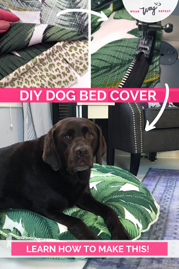 HOW TO MAKE A STYLISH DOG BED COVER