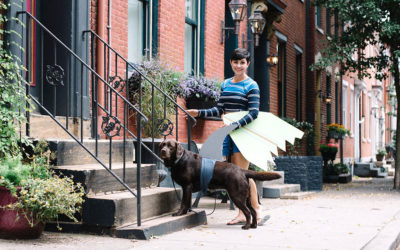 Halloween Couples Costume With Your Dog: Surfer Girl and Shark