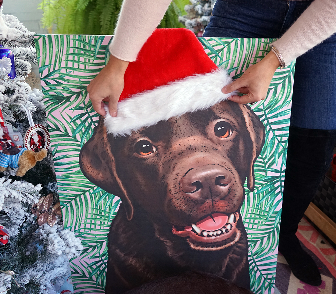 Easy Santa DIY For Lucy's Pop Your Pup Portrait