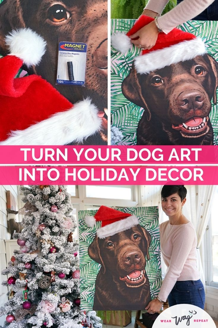 dog art holiday decor