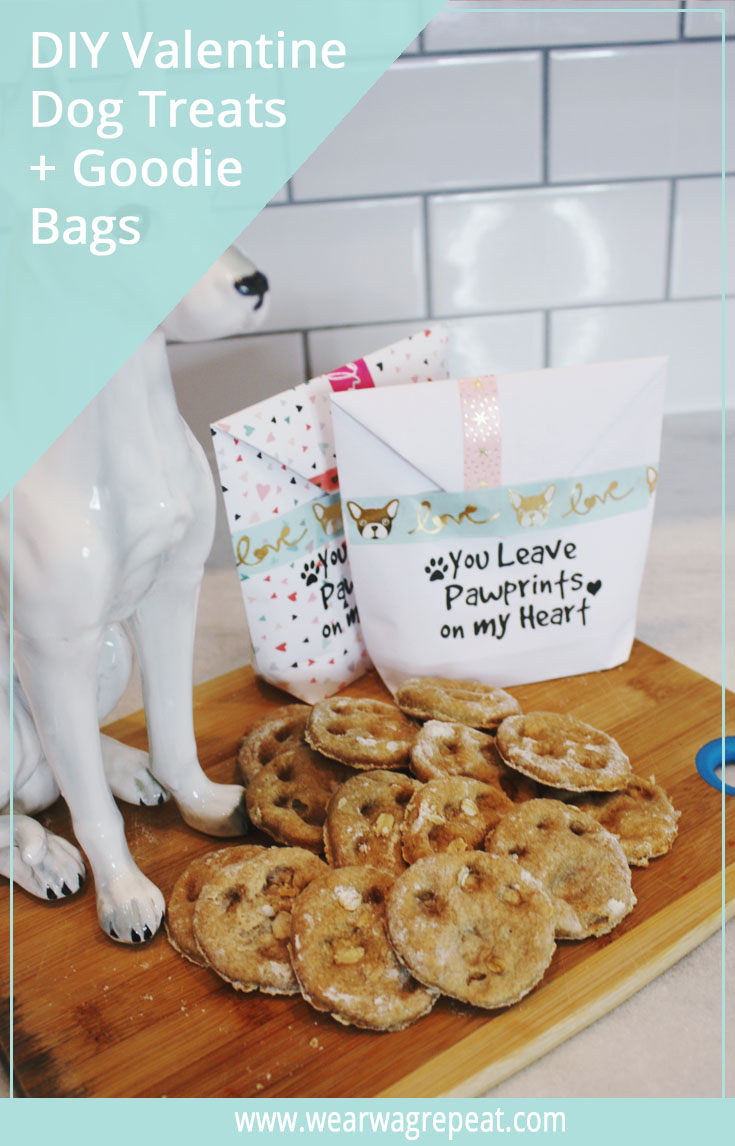 DIY VALENTINE DOG TREAT RECIPE + GOODIE BAG