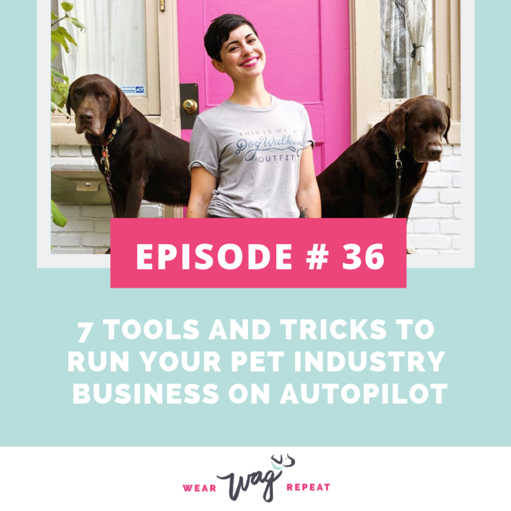 Podcast Episode 036: 7 Tools and Tricks To Run Your Pet Industry Business on Autopilot