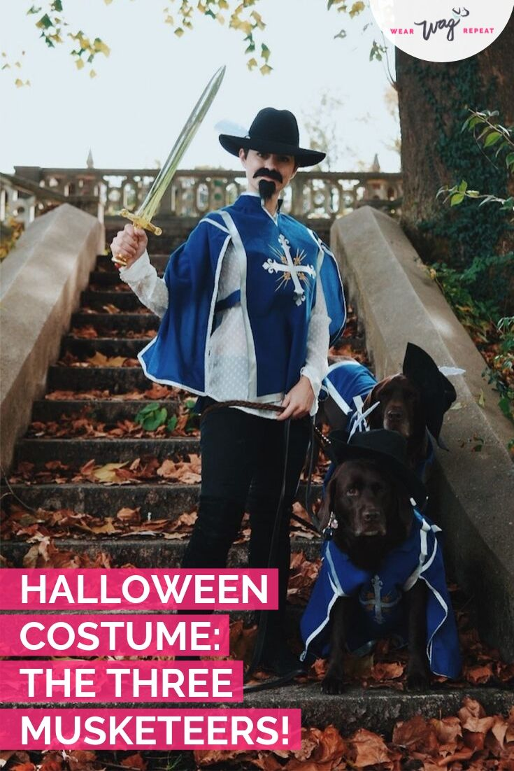 HALLOWEEN COUPLES COSTUME WITH YOUR DOG: Three Musketeers