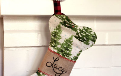 DIY Dog Bone Christmas Stocking Pattern
