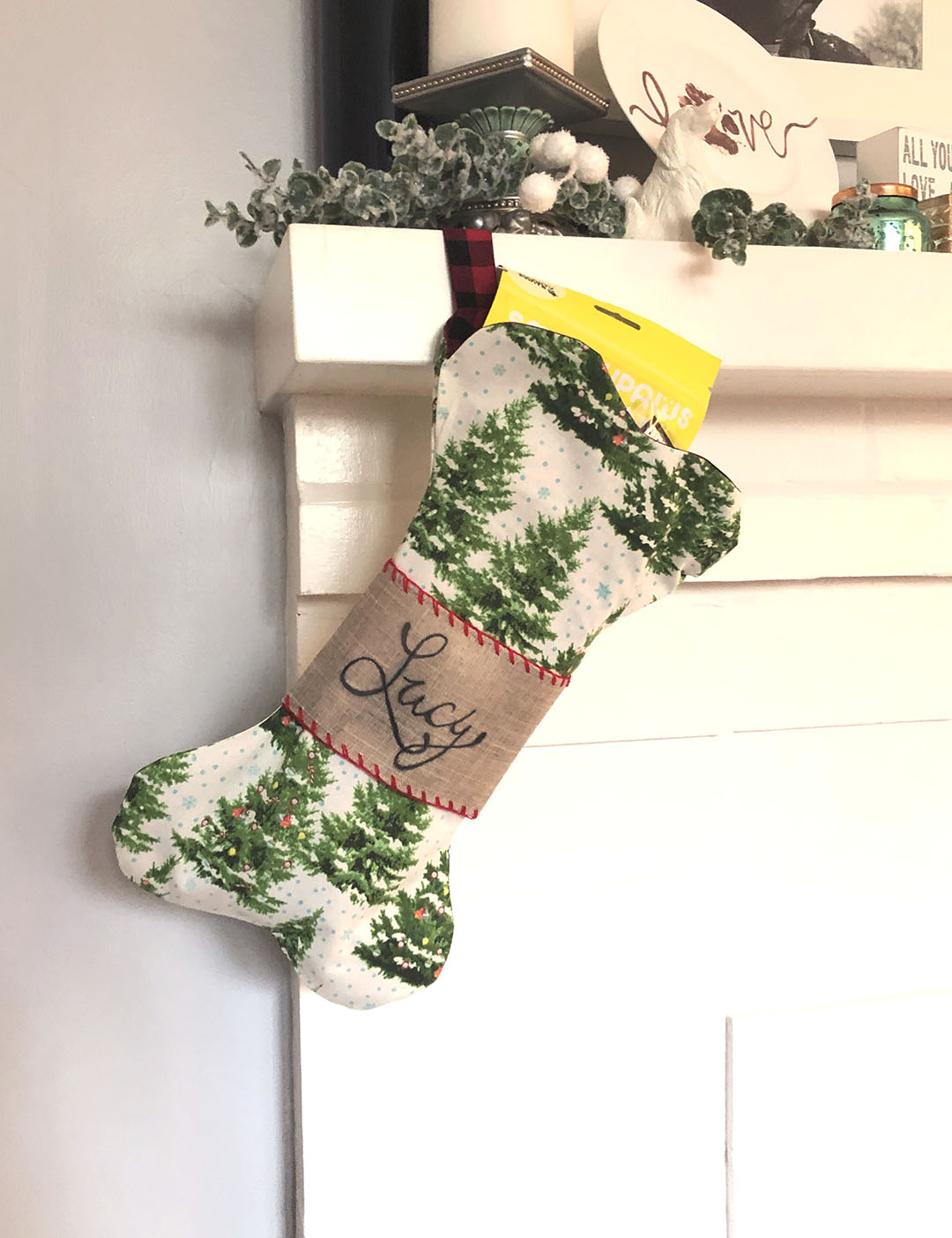 free dog christmas stocking pattern