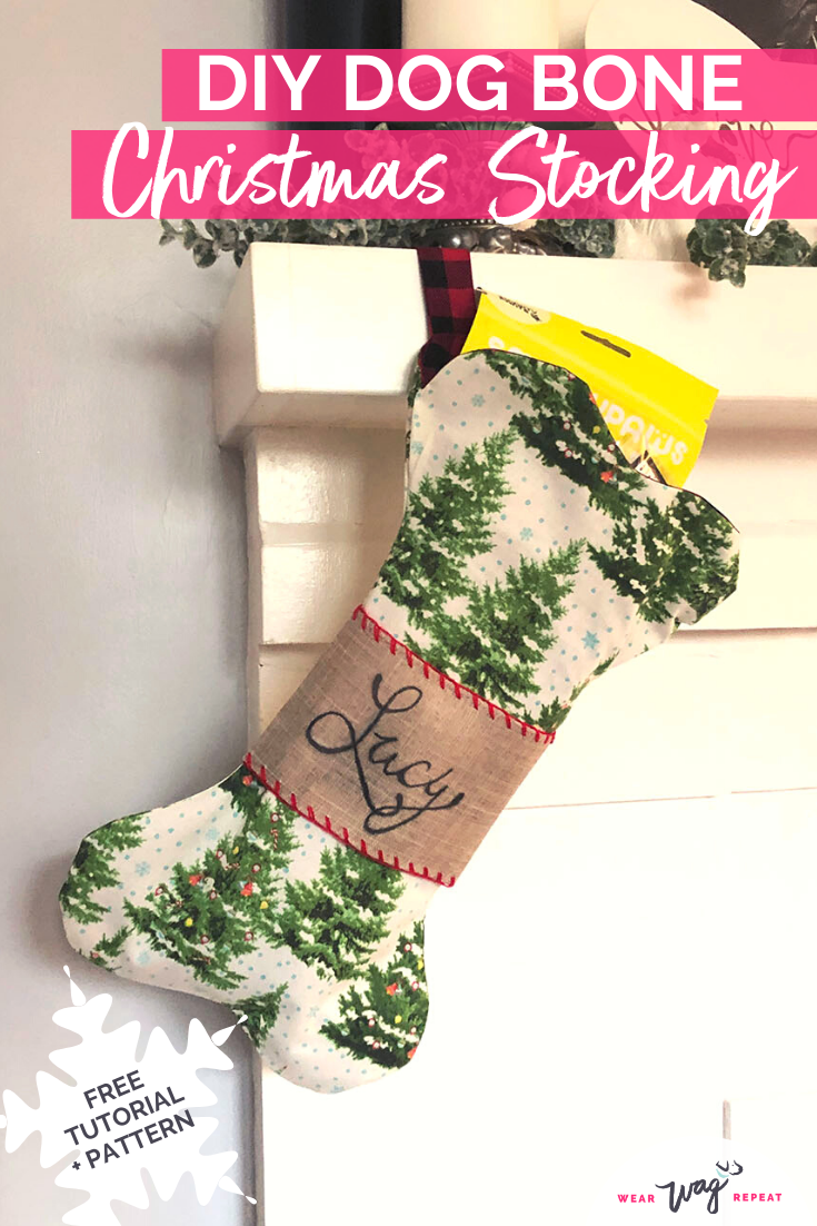 DIY Dog Bone Christmas Stocking