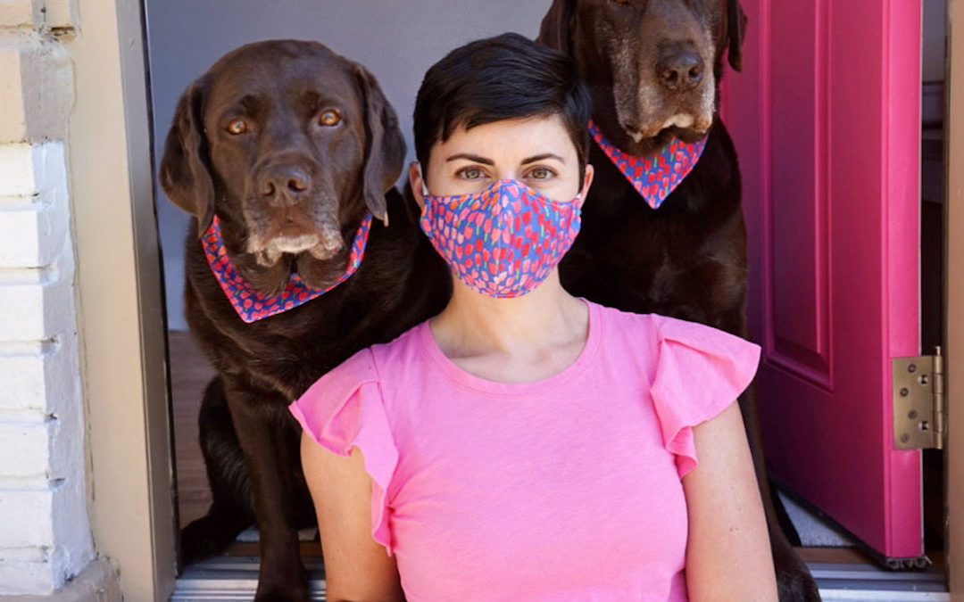 DIY: Fabric Face Mask and Matching Dog Bandana