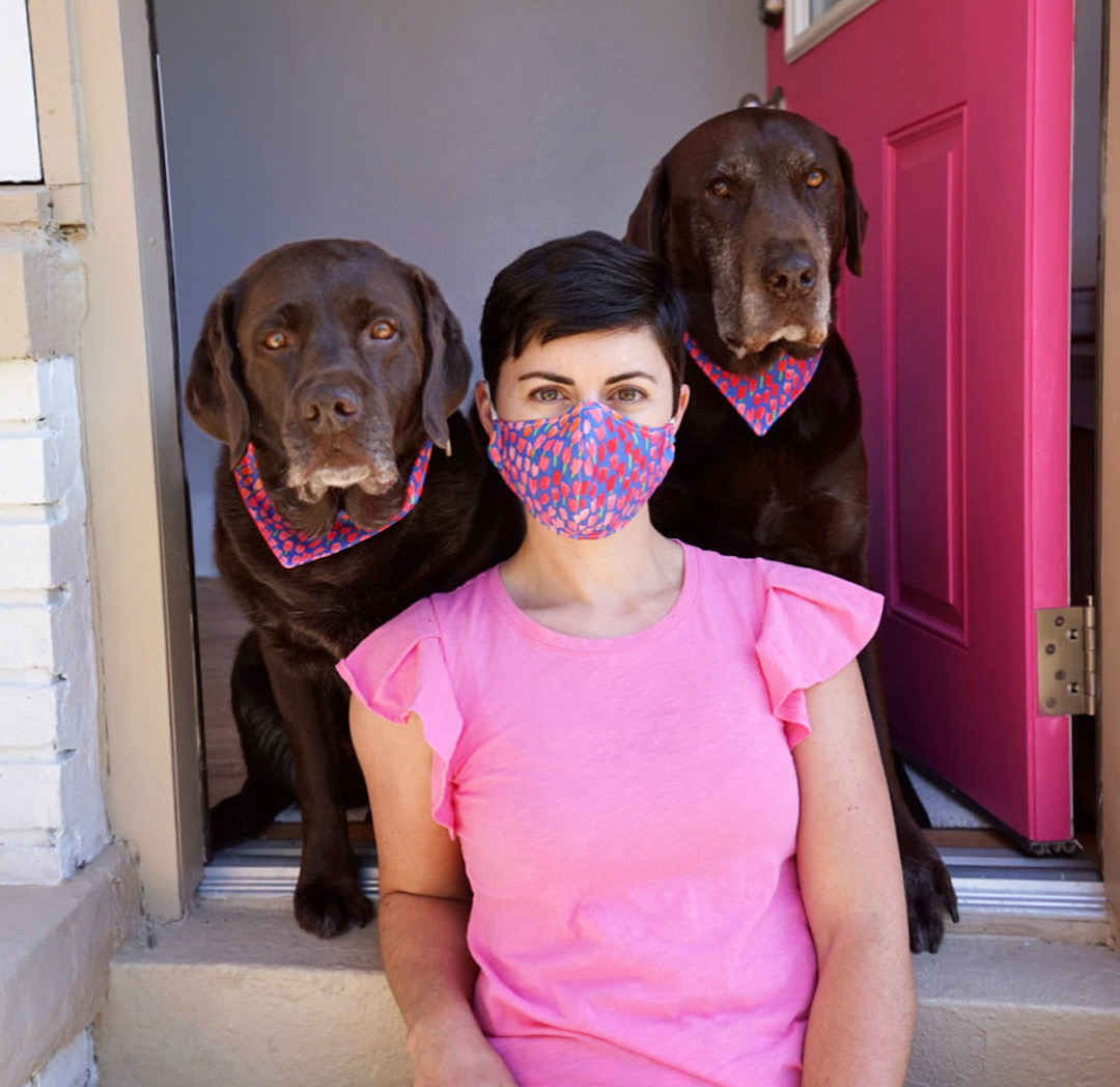 DIY Fabric Face Mask and Matching Dog Bandana