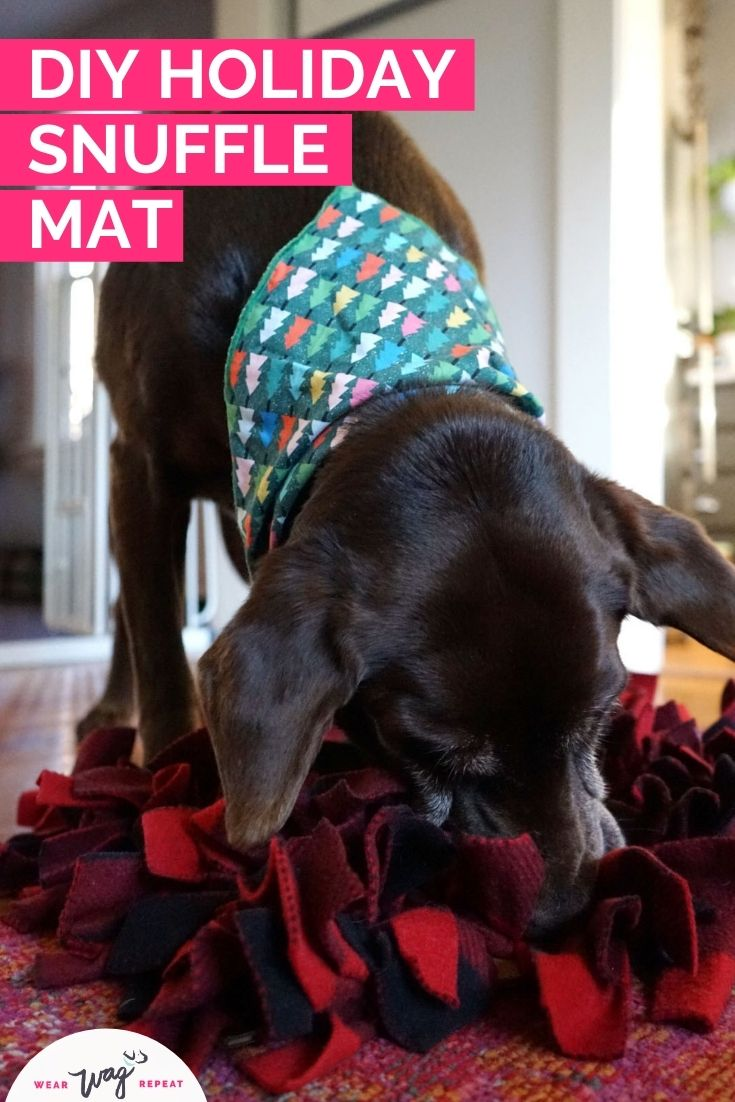 DIY Holiday Snuffle Mat