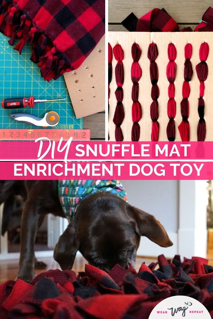 DIY Snuffle mat enrichment