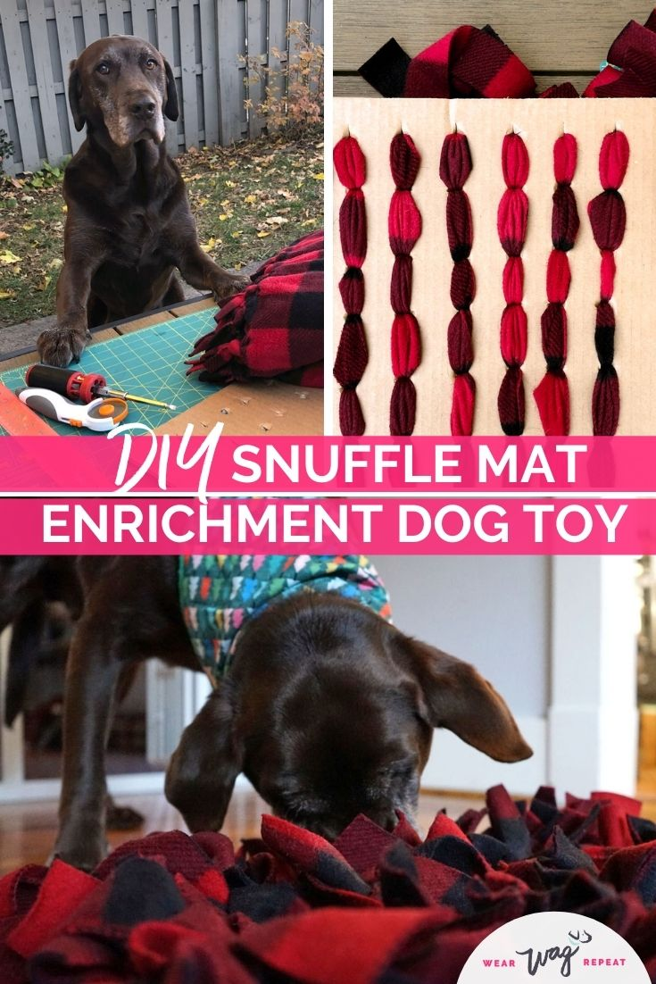 DIY Snuffle mat toy tutorial