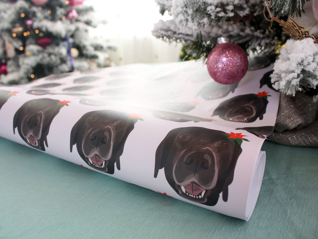 Noble Friends Shop Dog Wrapping Paper