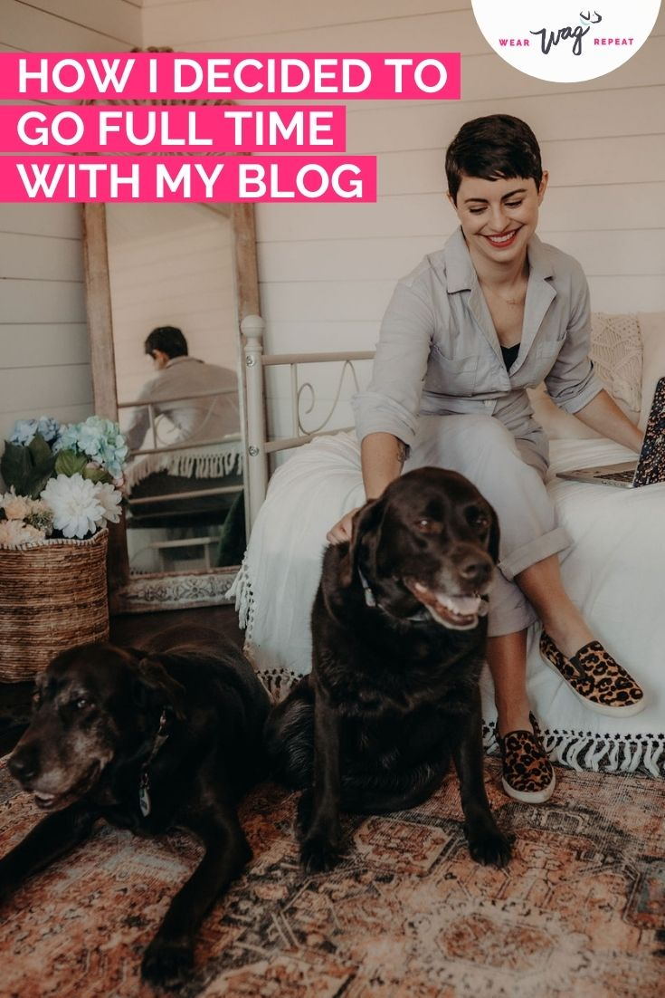 how i went full time with my blog