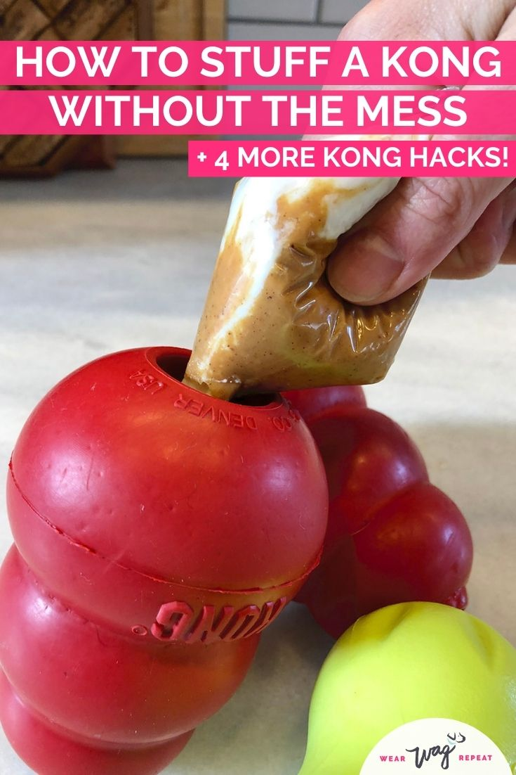 how to stuff a kong wihout mess